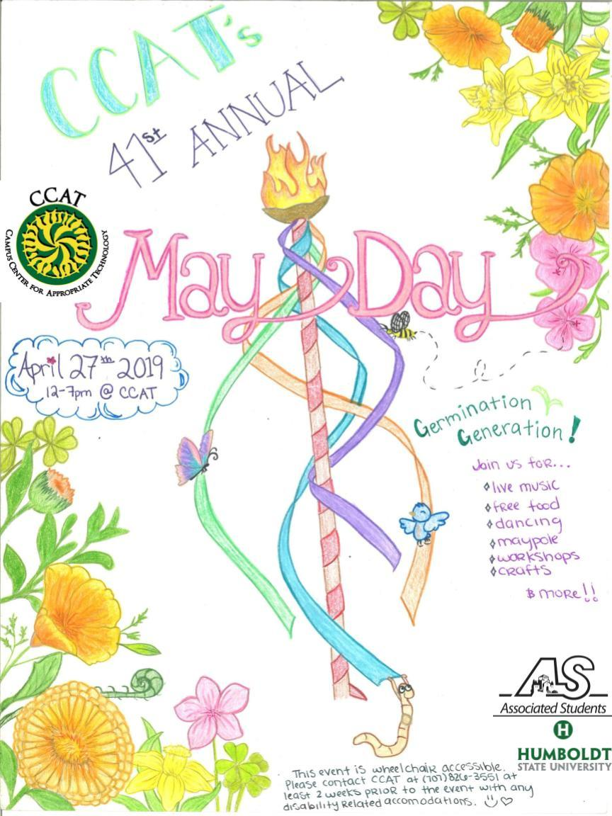 CCAT MayDay April 27th from 12 to 7pm